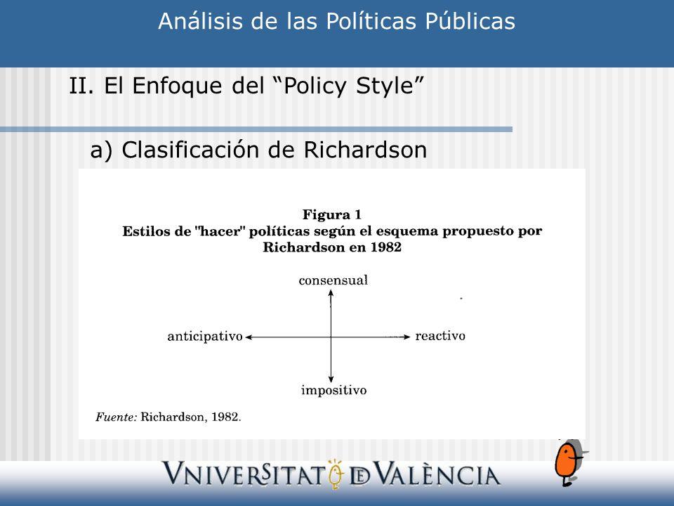 Análisis de las Políticas Públicas II.