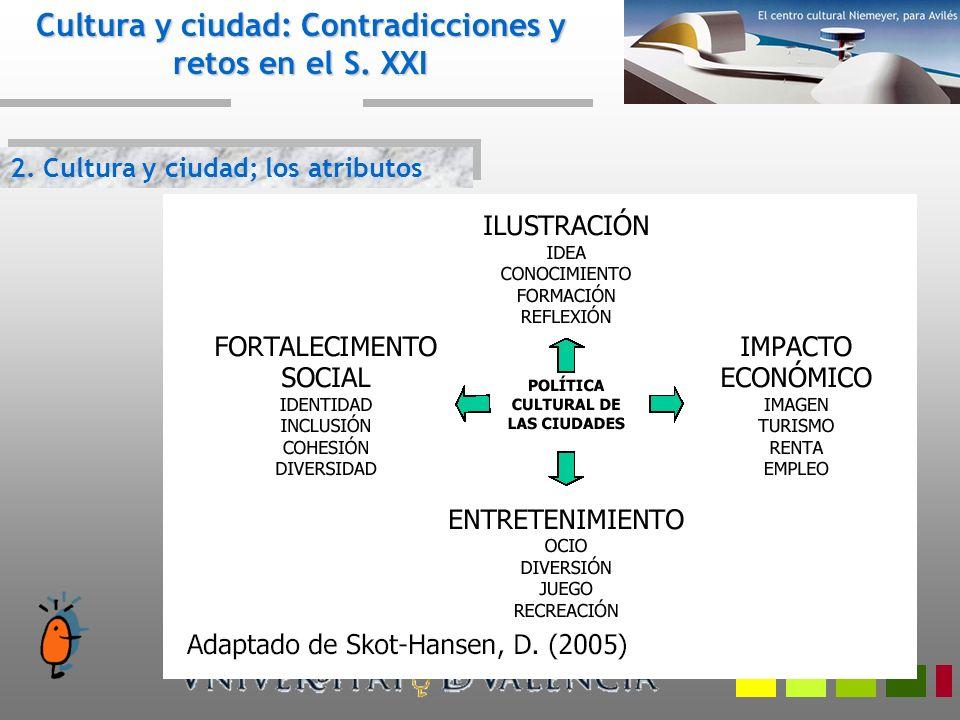 2.Cultura y ciudad; los atributos Cultura y ciudad: Contradicciones y retos en el S.
