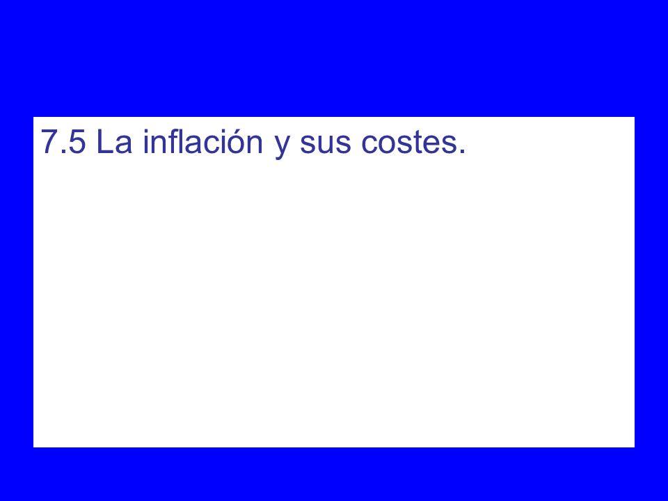 7.5 La inflación y sus costes.