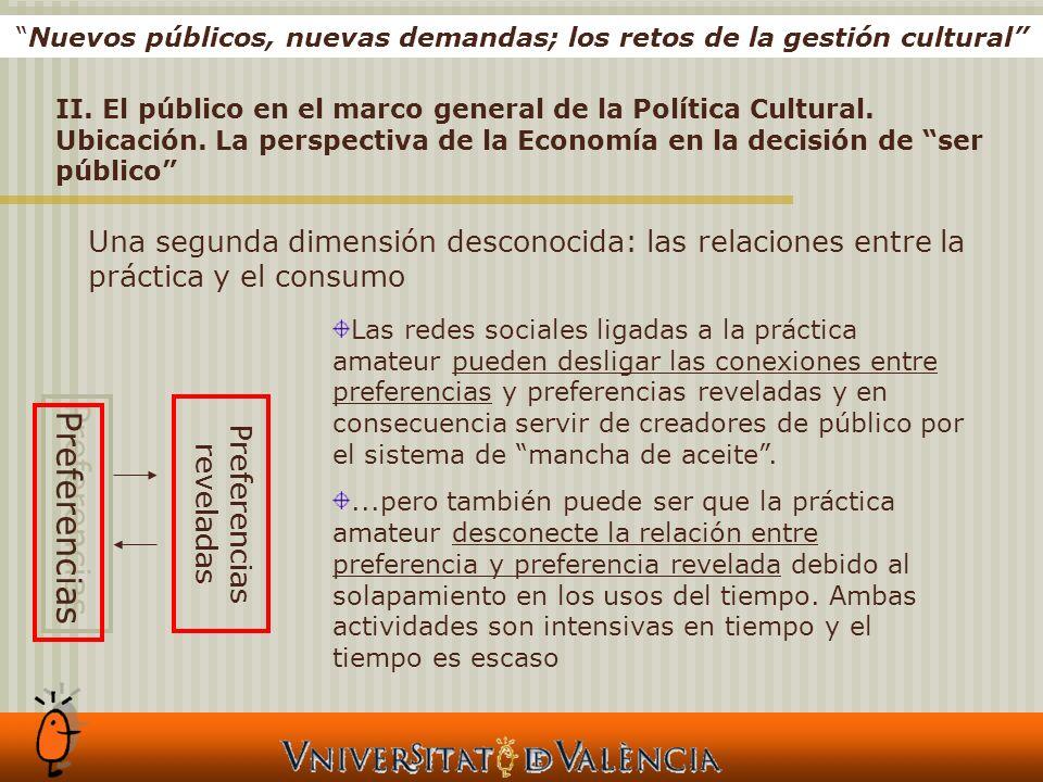 Nuevos públicos, nuevas demandas; los retos de la gestión cultural II.