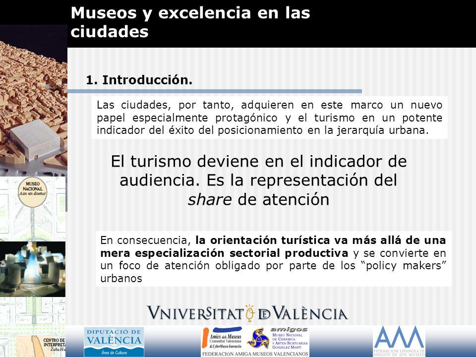 Museos y excelencia en las ciudades GRACIAS POR SU ATENCIÓN