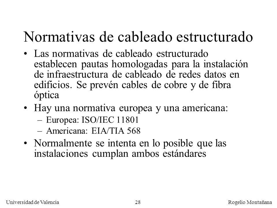 27 Universidad de Valencia Rogelio Montañana Cableado estructurado 1/1/1984: AT&T pierde en un juicio histórico el monopolio de las telecomunicaciones