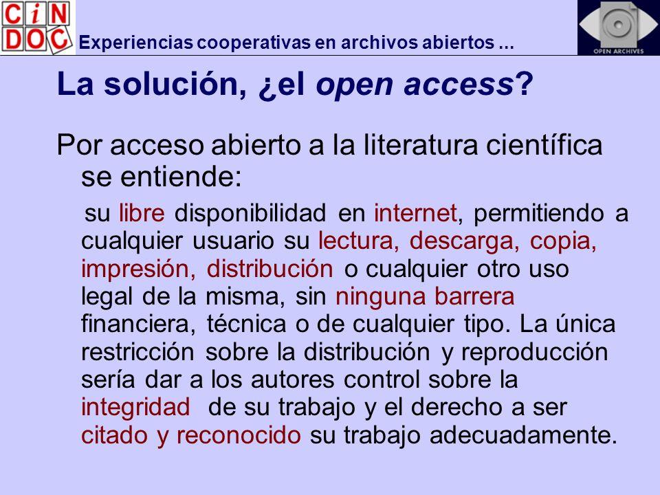 Experiencias cooperativas en archivos abiertos...