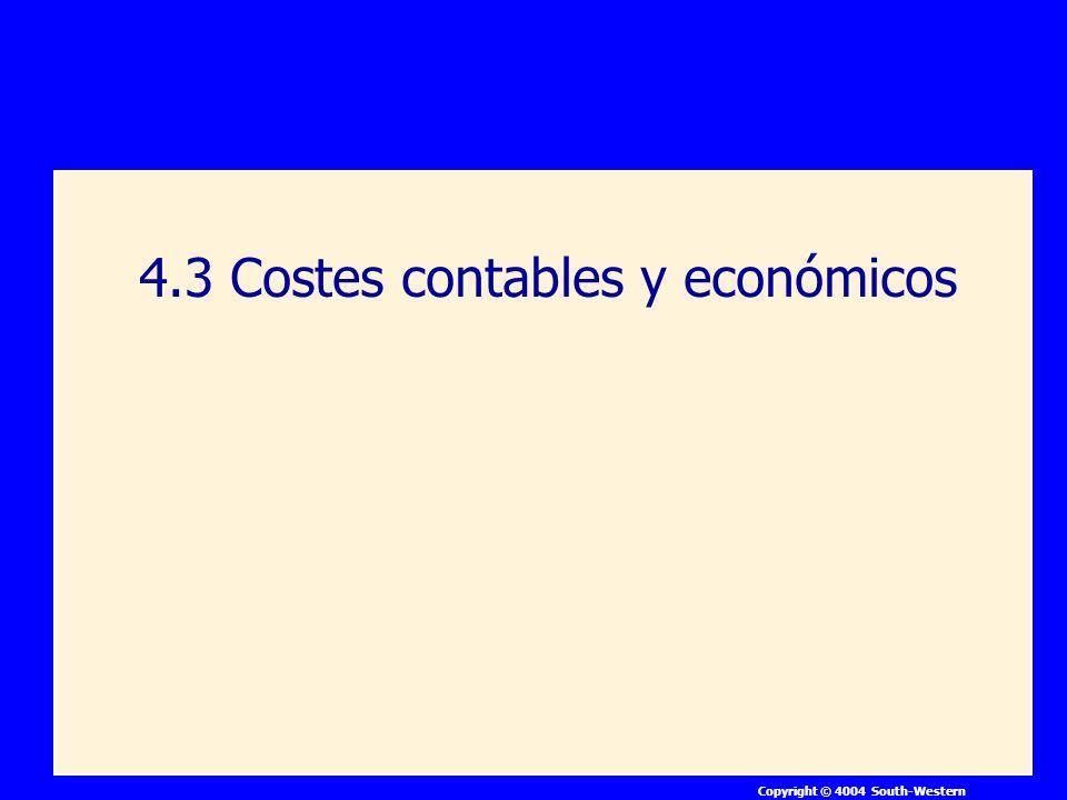 Copyright © 4004 South-Western 4.3 Costes contables y económicos