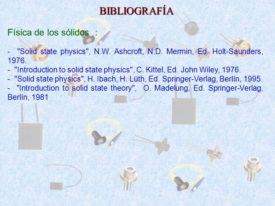 BIBLIOGRAFÍA Física de los sólidos : -