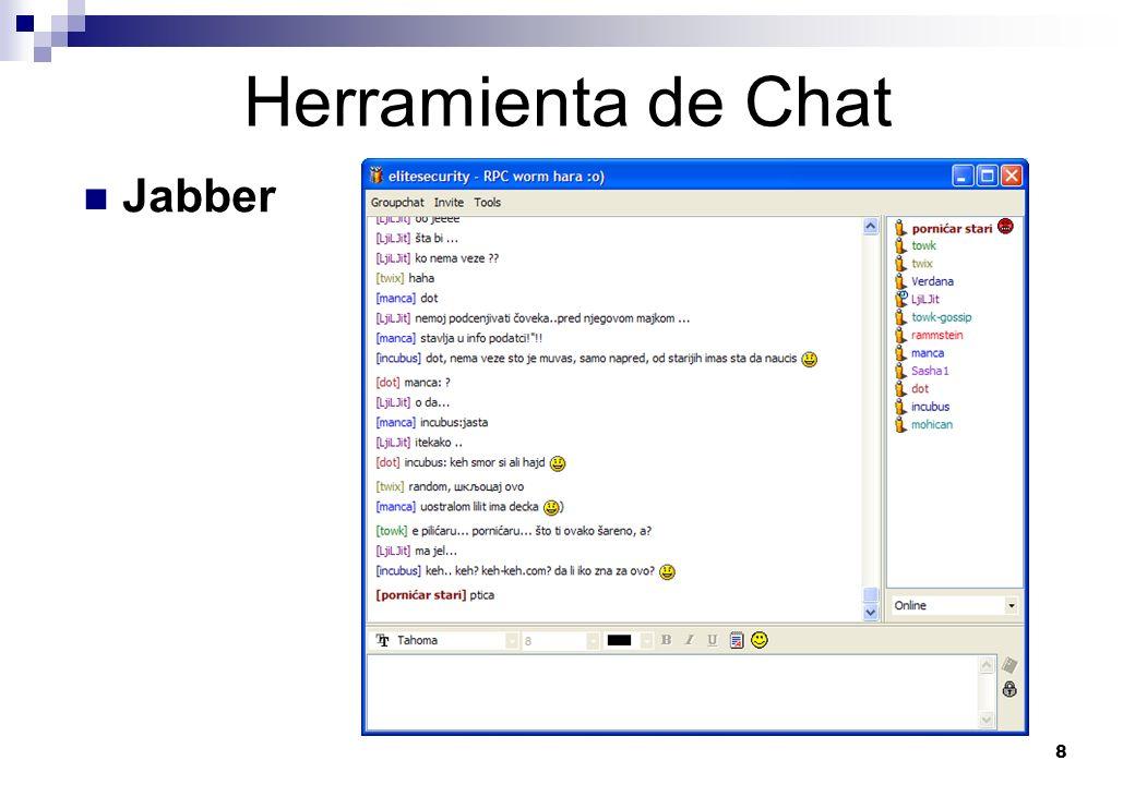 8 Herramienta de Chat Jabber
