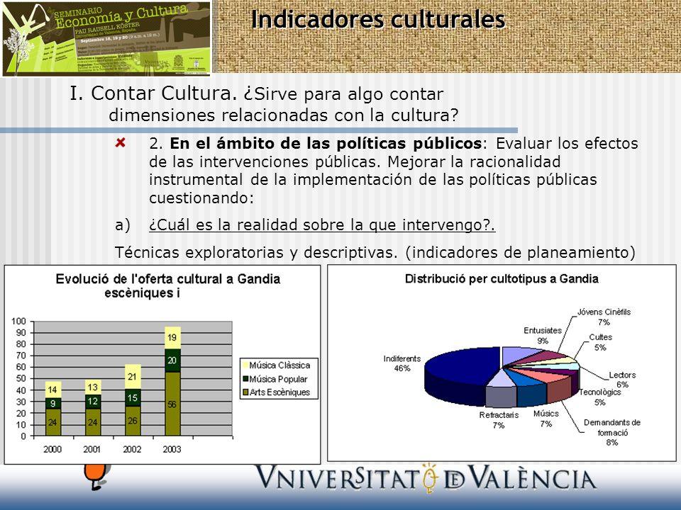 Indicadores culturales III.Un sistema de indicadores culturales.