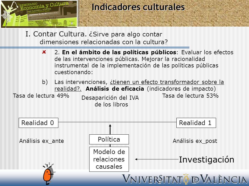 2. En el ámbito de las políticas públicos: Evaluar los efectos de las intervenciones públicas. Mejorar la racionalidad instrumental de la implementaci