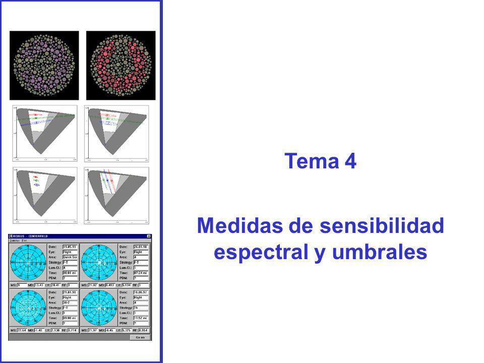 Tema 4 Medidas de sensibilidad espectral y umbrales