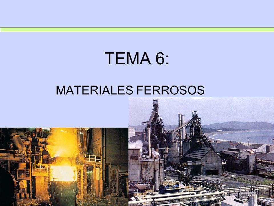 TEMA 6: MATERIALES FERROSOS 1.