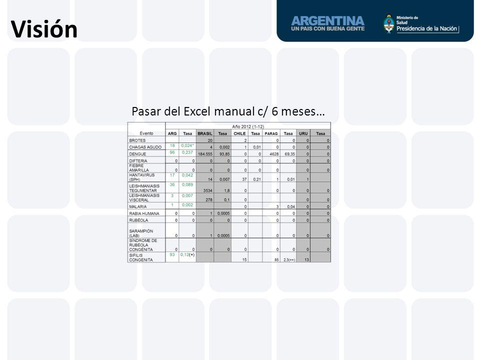 Visión Pasar del Excel manual c/ 6 meses…