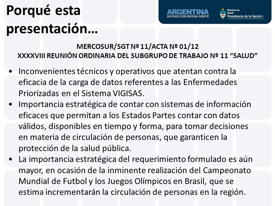 A un verdadero sistema de información que, por sus prestaciones, pueda ser replicado en toda la región VIGISAS ArgentinaBoliviaBrasilChileColombiaEcuadorGuyanaParaguayPerúSurinameUruguayVenezuela