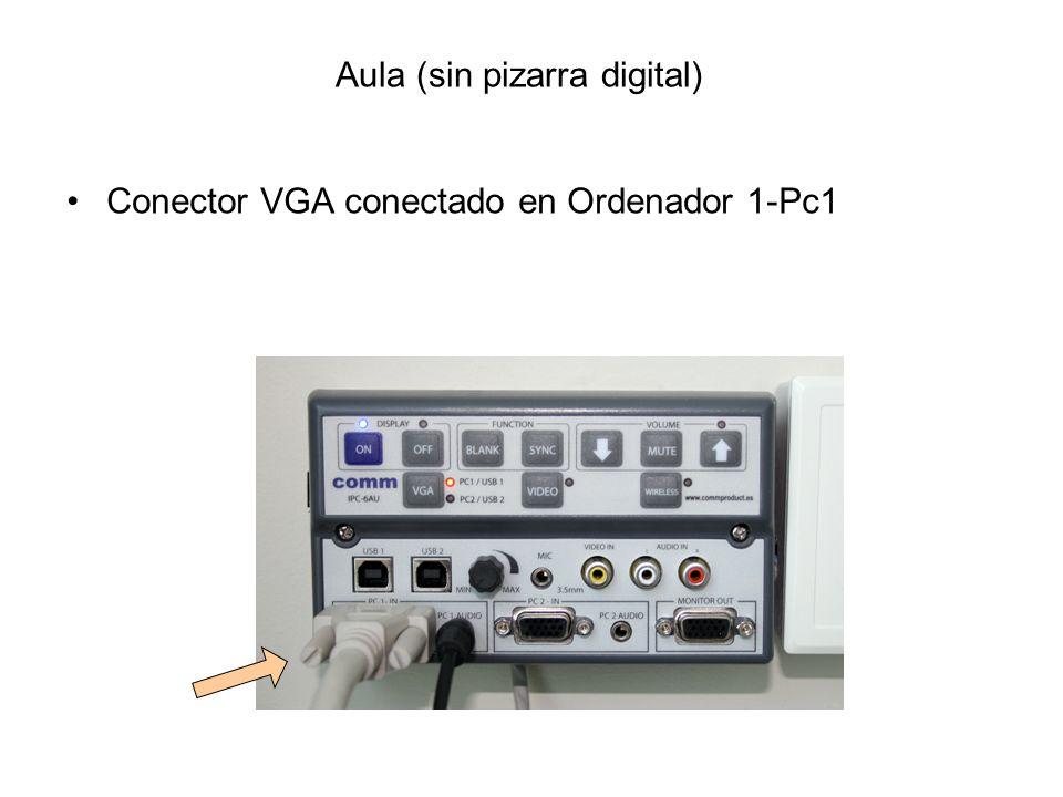 ·· Si la señal de vídeo del ordenador se ve con colores magentas, verdosos, amarillos… quizá se deba a que los conectores del cable VGA no hacen buen contacto (poco apretado, mal conectado -pins doblados-) Si persisten los colores virados, se recomienda cambiar el cable VGA y avisar en Conserjería que el cable falla Problema C Solución: cambio del cable VGA [Nota: si se conectan mal, se doblan los pins y falla la señal (color) ]