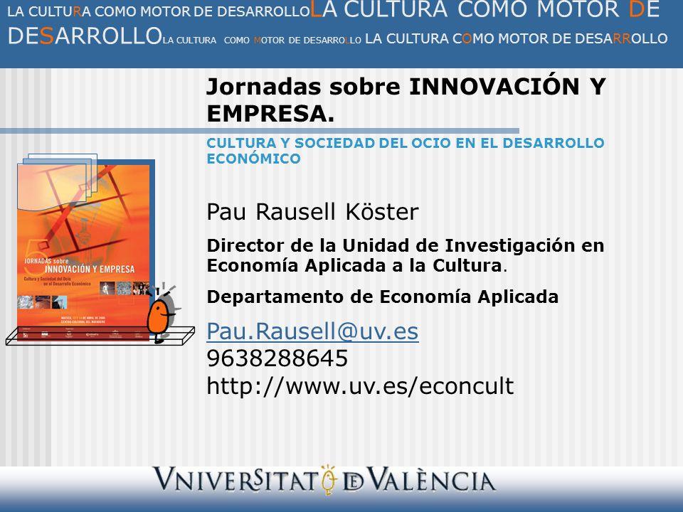 III.El impacto económico del sector del ocio y la cultura 3.