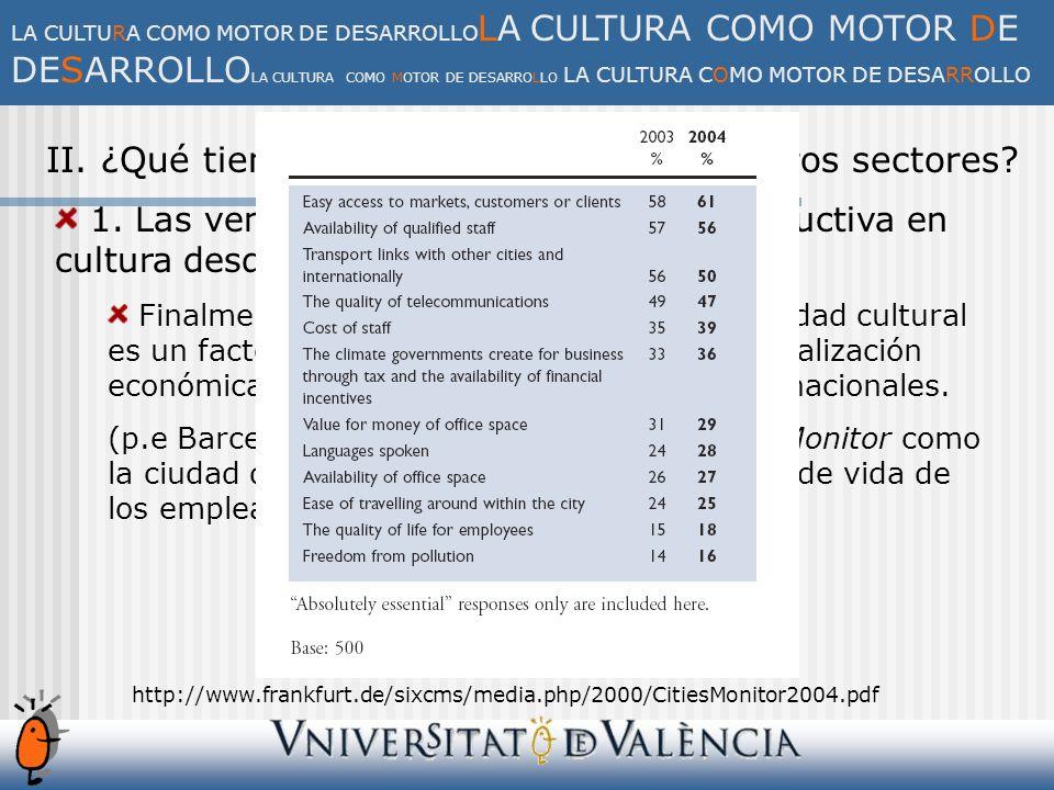 V.Los retos de la relación entre cultura y economía.