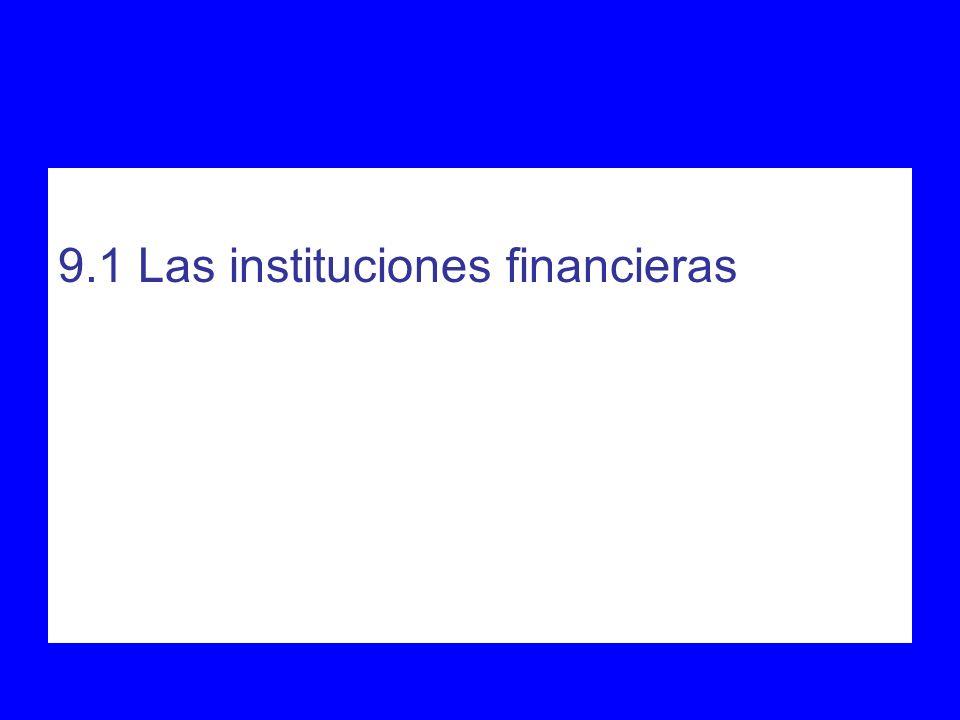 9.1 Las instituciones financieras