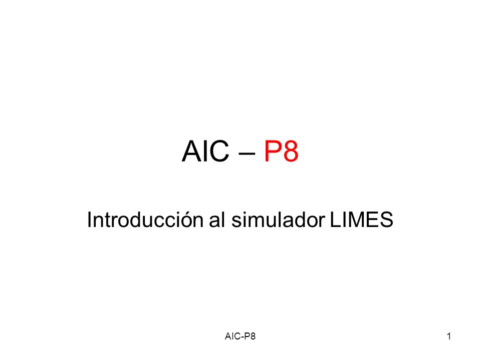 AIC-P812 Configuracion-II Editamos el archivo makefile (ver hoja de practicas para opciones) alumno@limes:~/limes/applications/fft:~> vi makefile Limpiamos y recompilamos alumno@limes:~/limes/applications/fft:~>make clean alumno@limes:~/limes/applications/fft:~>make Hemos generado un ejecutable, FFT.