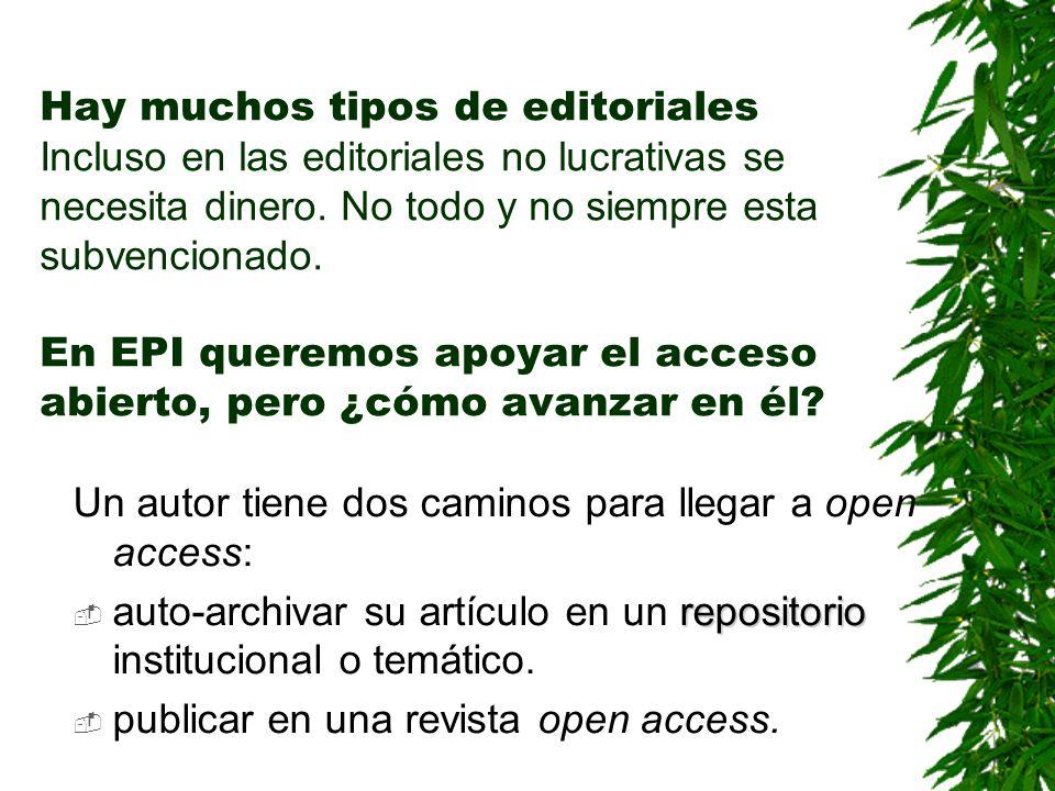 s internet pueda leer, o ¿Puede EPI ser open access.