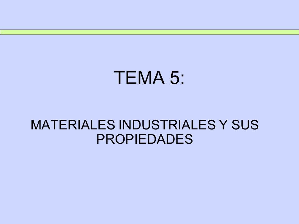 TEMA 5: MATERIALES INDUSTRIALES Y SUS PROPIEDADES 1.