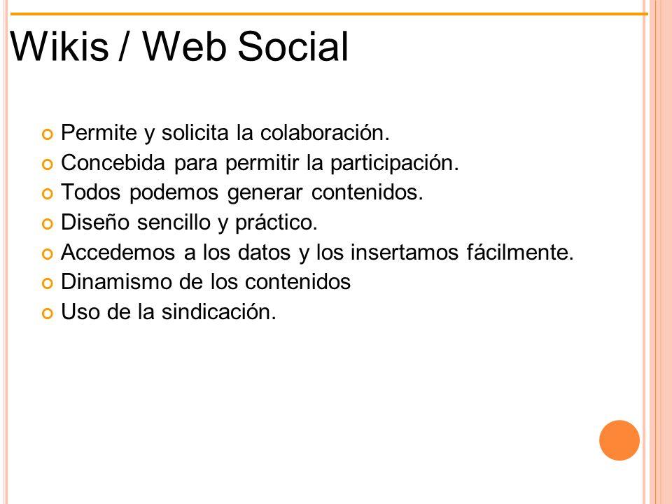 Wiki ¿ Qué es ? RecursosUso en el aula Wiki H. Colaborativa