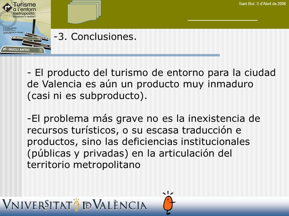 Sant Boí. 3 d Abril de 2006 -3. Conclusiones.