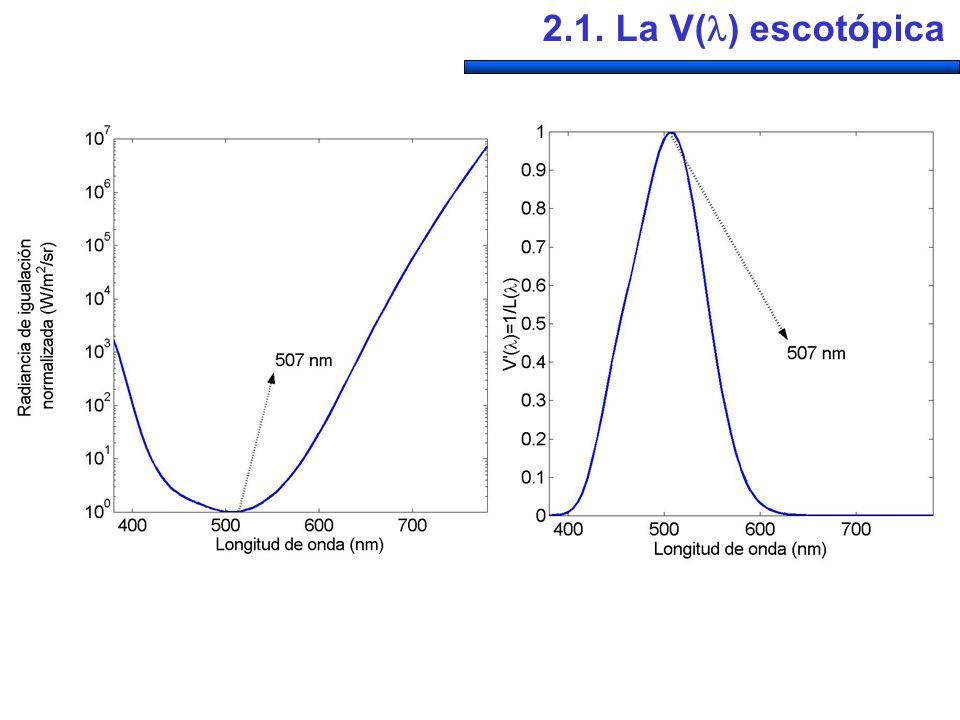 2.1. La V( ) escotópica