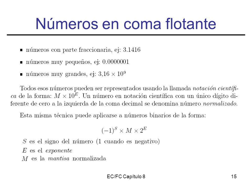 EC/FC Capítulo 815 Números en coma flotante