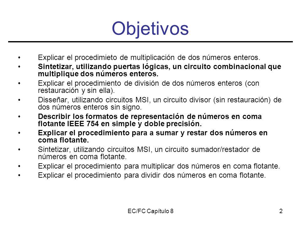 EC/FC Capítulo 82 Objetivos Explicar el procedimieto de multiplicación de dos números enteros.