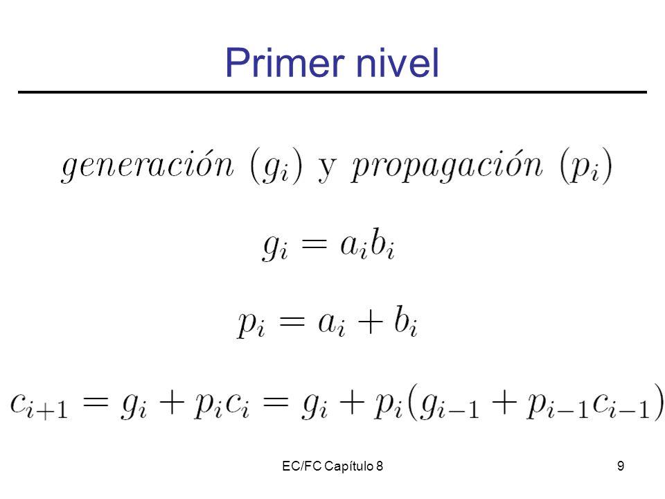 EC/FC Capítulo 810 Primer nivel Ejercicio 1: Escribe las 4 primeras señales de acarreo en función de p y c