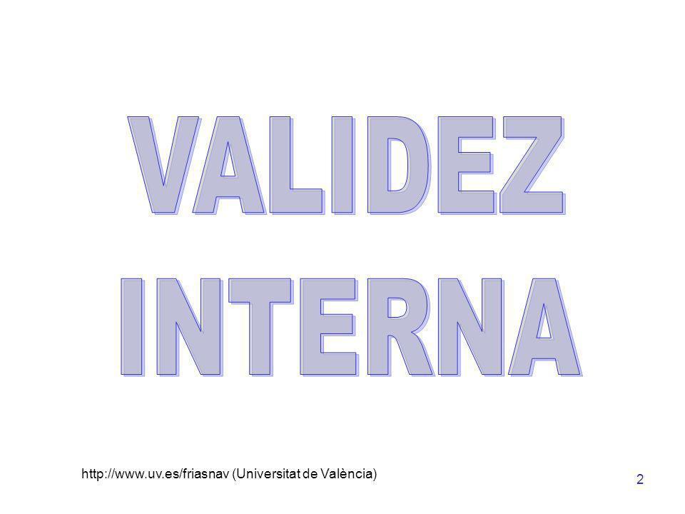 3 Eficacia de un Programa de Intervención Percepción de la Imagen Corporal Variable Independiente (CAUSA) Variable Dependiente (EFECTO) Causa Alternativa La Validez Interna indica que se ha encontrado evidencia (pruebas) de que el trabajo realizado en el estudio (ej.