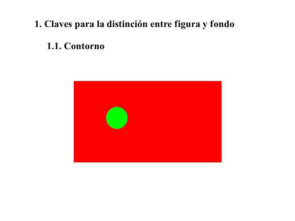 1. Claves para la distinción entre figura y fondo 1.1. Contorno