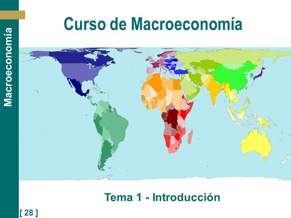[ 28 ] Macroeconomía Curso de Macroeconomía Tema 1 - Introducción