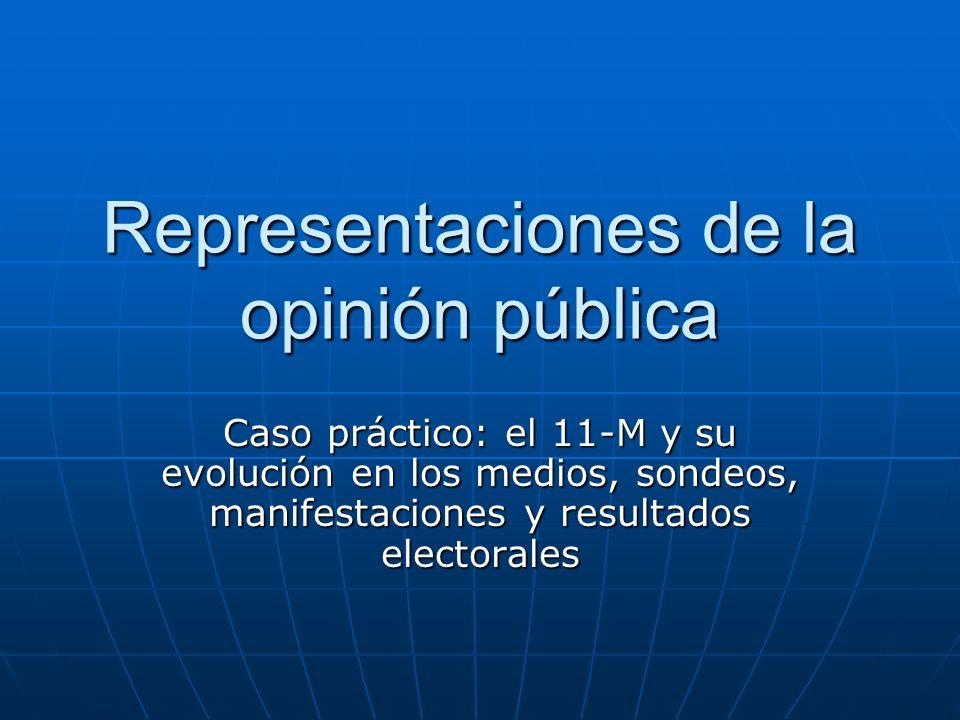 Representaciones de la opinión pública Caso práctico: el 11-M y su evolución en los medios, sondeos, manifestaciones y resultados electorales