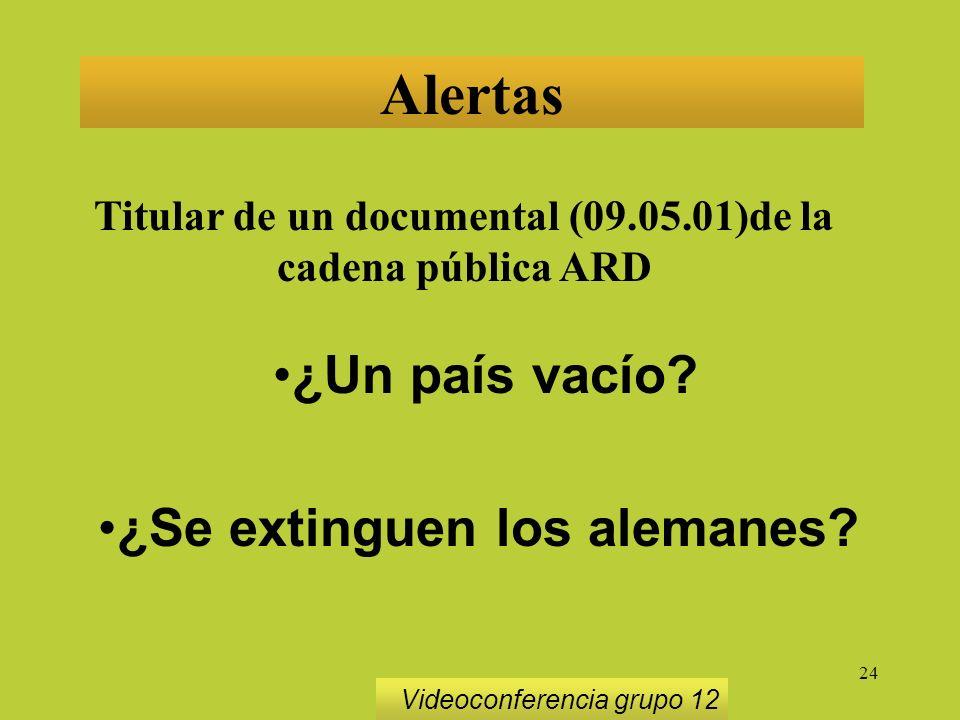 24 Alertas Titular de un documental (09.05.01)de la cadena pública ARD ¿Un país vacío.