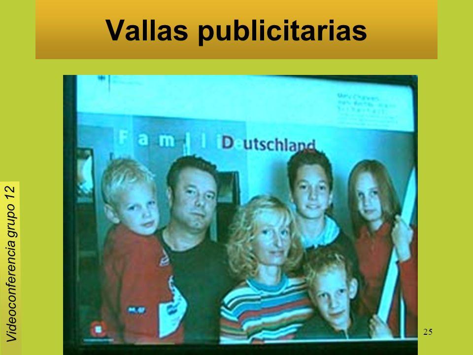 25 Vallas publicitarias Videoconferencia grupo 12