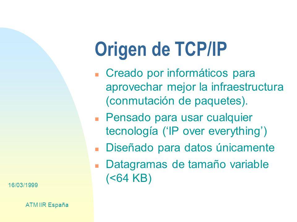 16/03/1999 ATM IIR España Tráfico Multicast en ATM nMientras que en los últimos años se ha desarrollado y probado la transmisión multicast en medios compartidos (p.