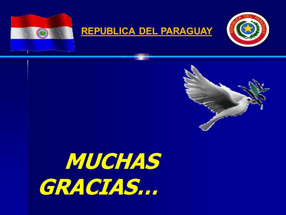 MUCHAS GRACIAS… REPUBLICA DEL PARAGUAY