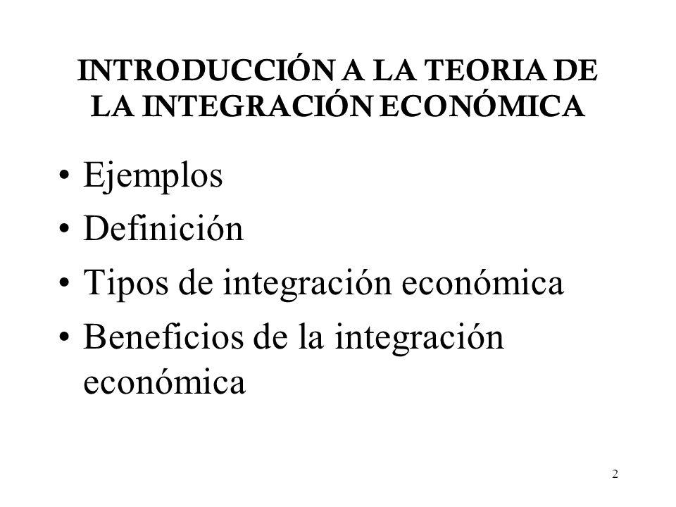 13 Tipología UNION ECONOMICA AREA DE LIBRE COMERCIO UNION ADUANERA MERCADO COMUN ¿Libre comercio entre miembros.
