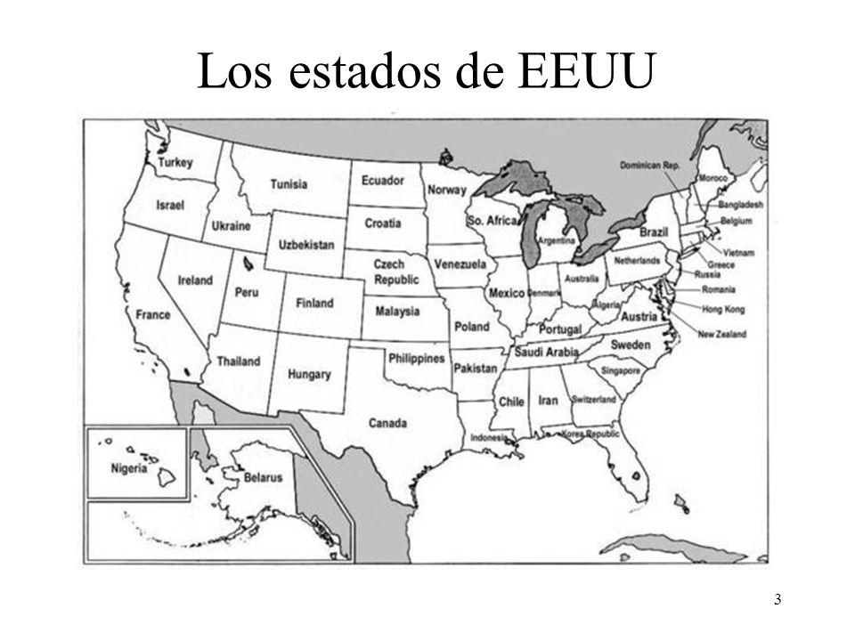 3 Los estados de EEUU