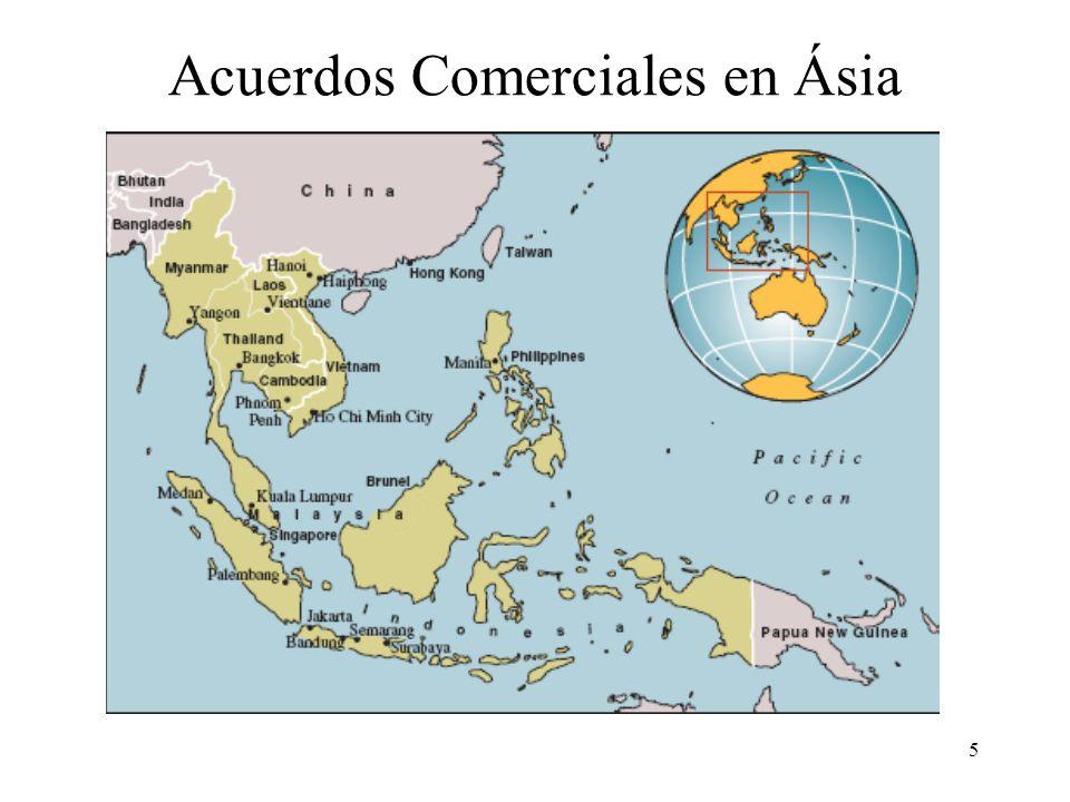 5 Acuerdos Comerciales en Ásia