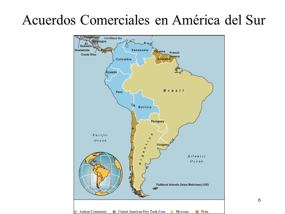 6 Acuerdos Comerciales en América del Sur