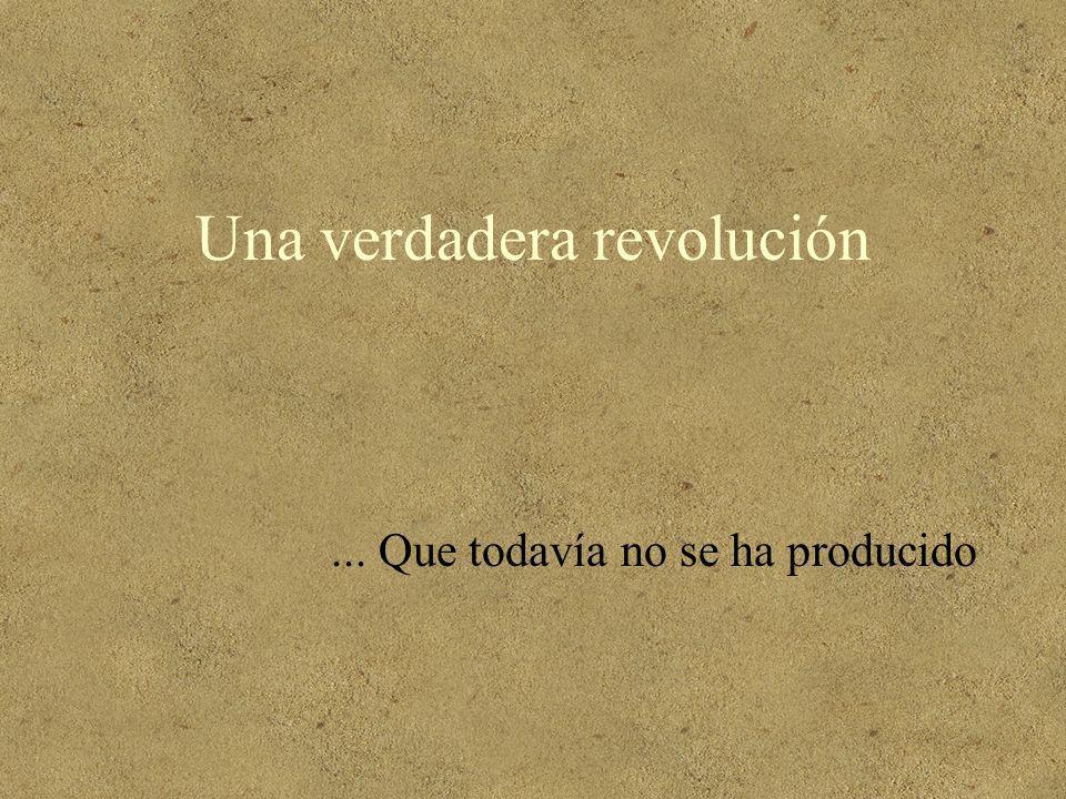 Una verdadera revolución... Que todavía no se ha producido