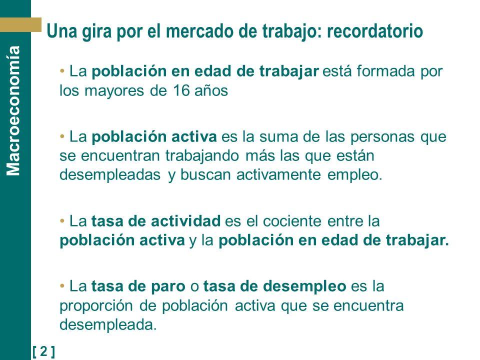 [ 3 ] Macroeconomía La Encuesta de Población Activa (EPA) La Encuesta de Población Activa (EPA) que elabora el INE es la principal fuente de información sobre el mercado de trabajo en España.