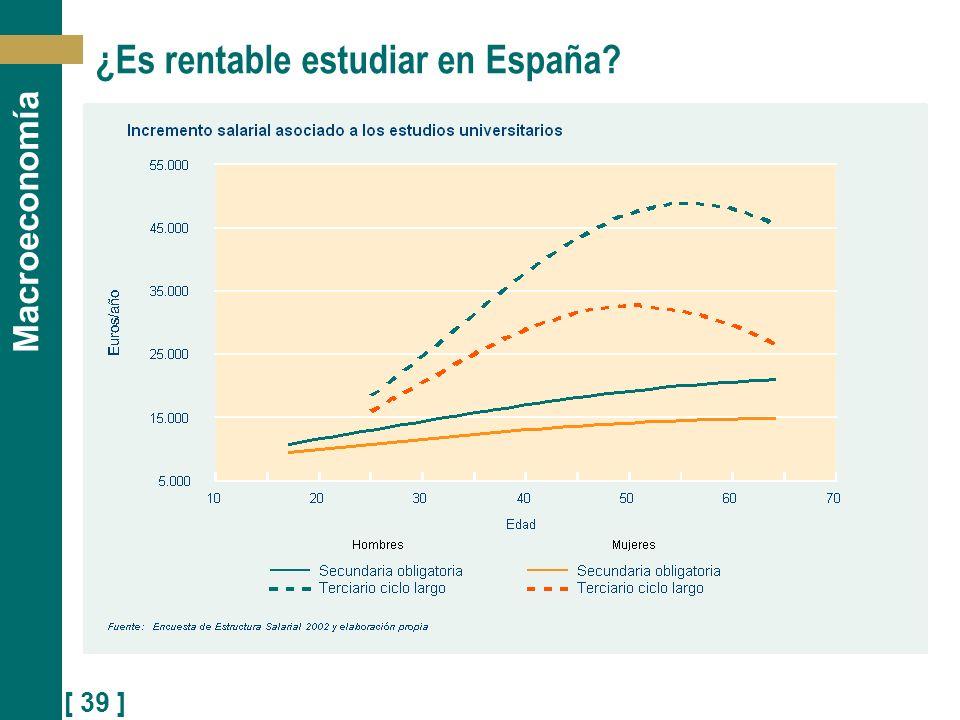 [ 39 ] Macroeconomía ¿Es rentable estudiar en España?