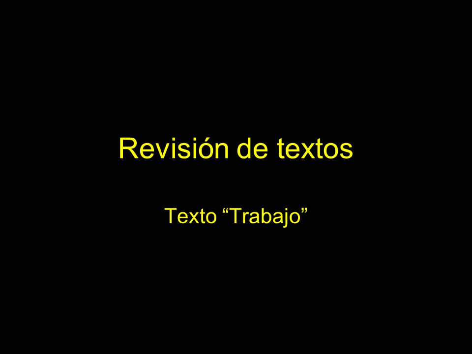 Texto original: ideas (S) 1.
