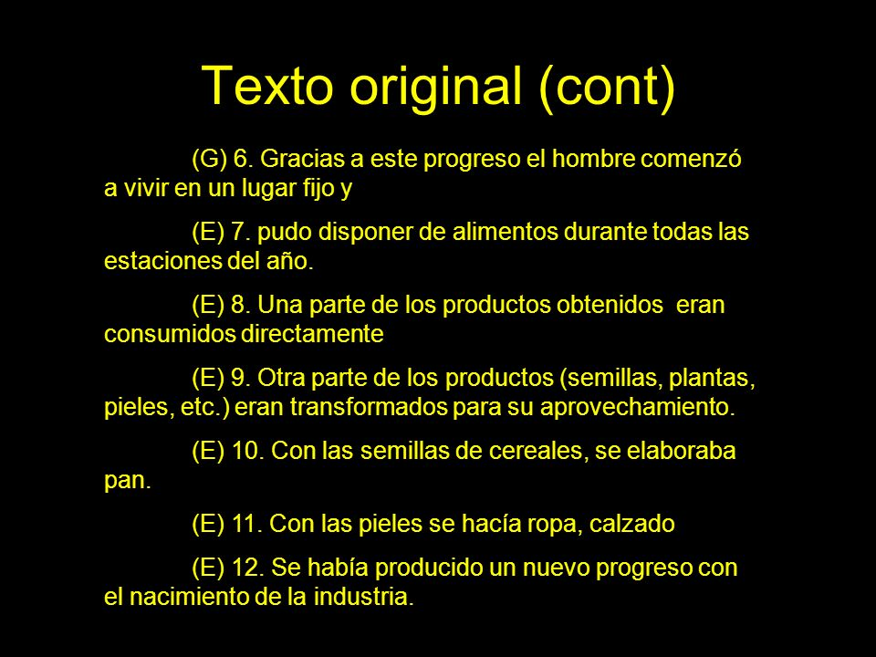 Texto original (cont) (G) 13.