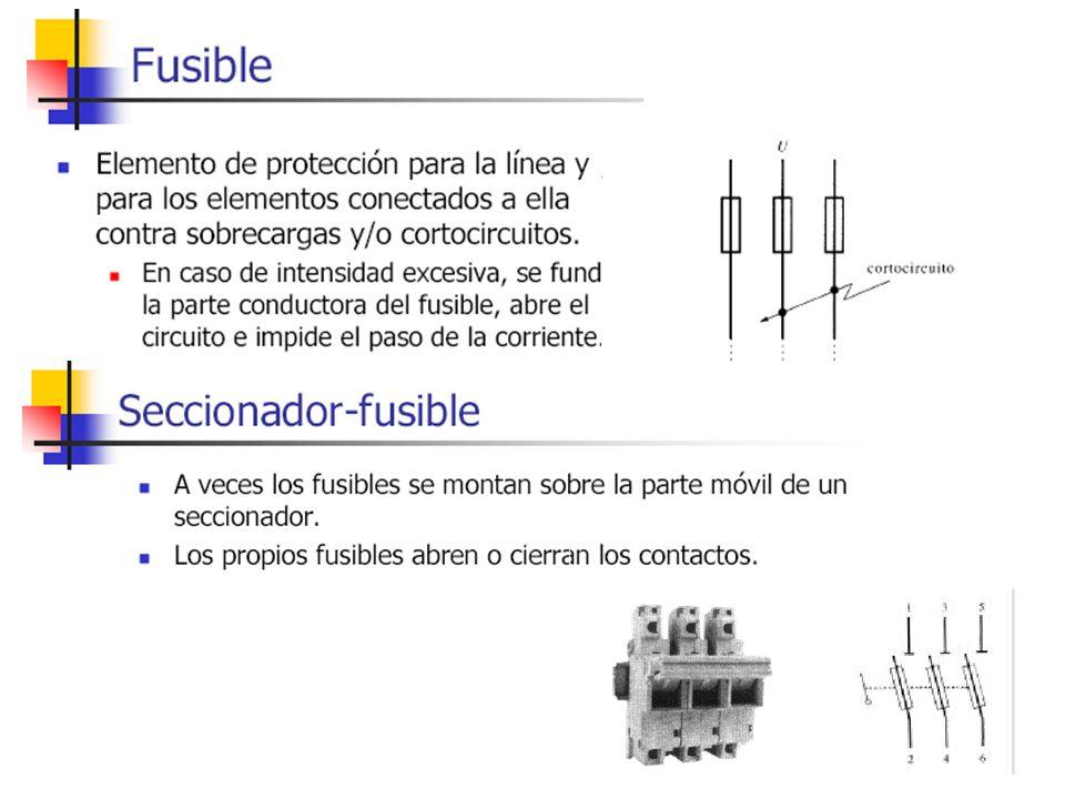 INTERRUPTORES MAGNETO-TÉRMICOS Poseen tres sistemas de desconexión: manual, térmico y magnético.