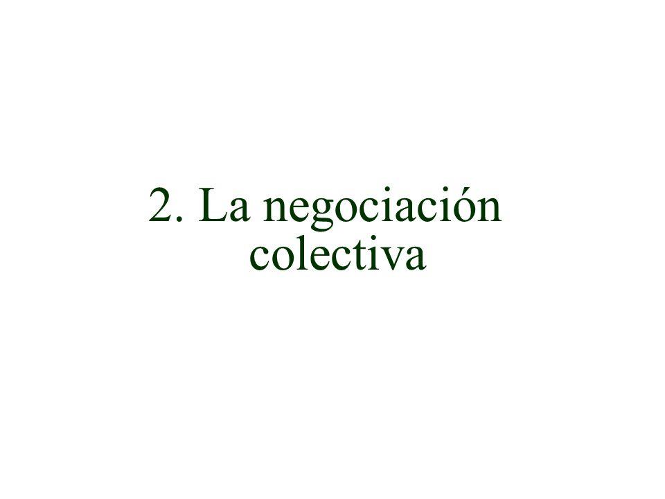 2. La negociación colectiva