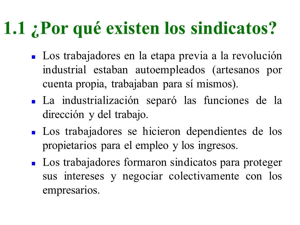 n Los trabajadores en la etapa previa a la revolución industrial estaban autoempleados (artesanos por cuenta propia, trabajaban para sí mismos). n La
