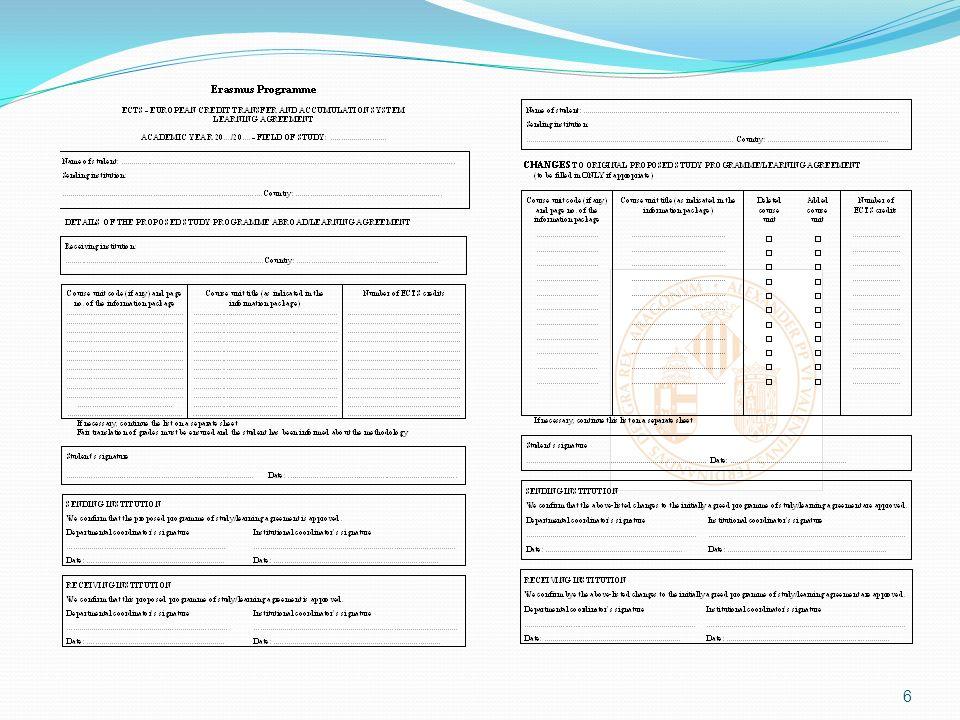 2) Universitat de València (ORI) La oficina de relacions internacionals de la Universitat de València (ORI) envía al domicilio del alumno un SOBRE con el nombramiento de becario (en castellano y en inglés), el certificado de la prueba de idioma, y una carta en la que se remite a la Guía, donde se dan las instrucciones para hacer el contrato de estudios telemàtico y se especifican los documentos que se han de presentar en la Universitat de València.